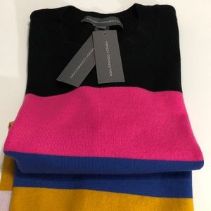 French connection rainbow stripe sweaterLarge